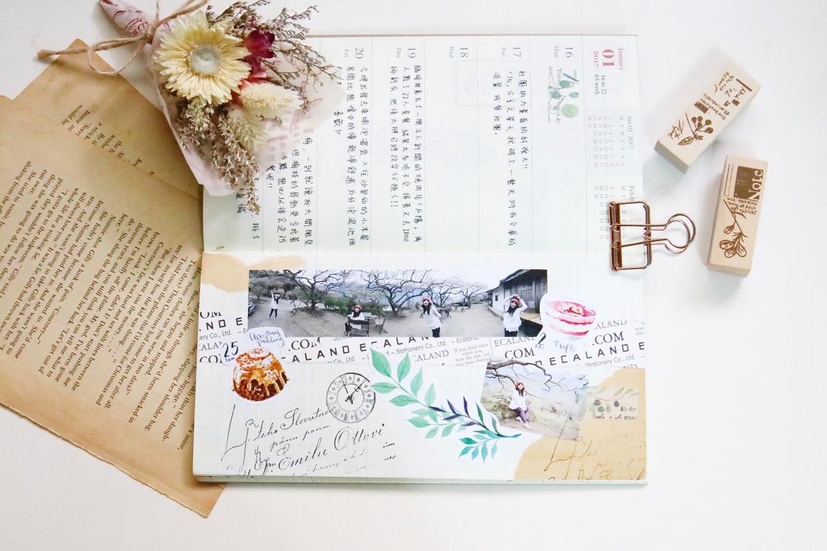 手帳使用紀錄 Traveler's Notebook 2017 週間橫式不孤單全紀錄(更新至WEEK 5)