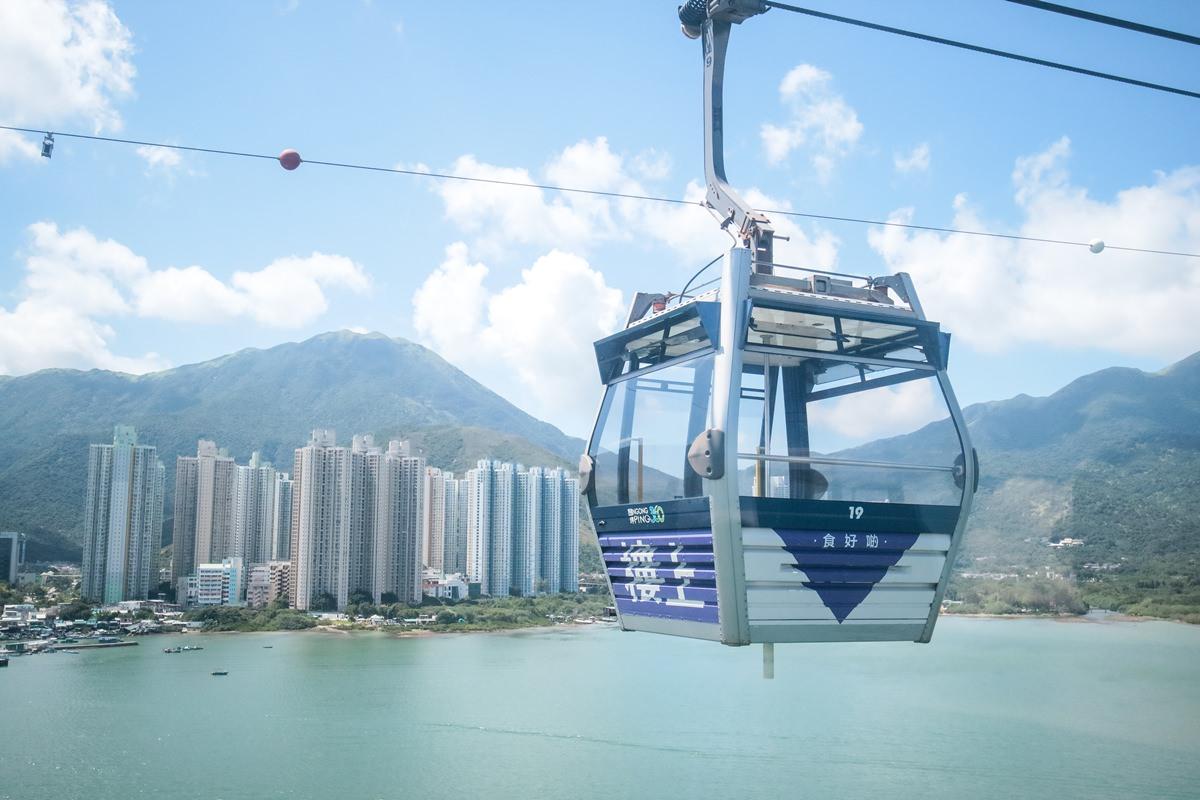 香港景點 搭乘昂坪360纜車前往大澳漁村 暢遊大嶼山美景