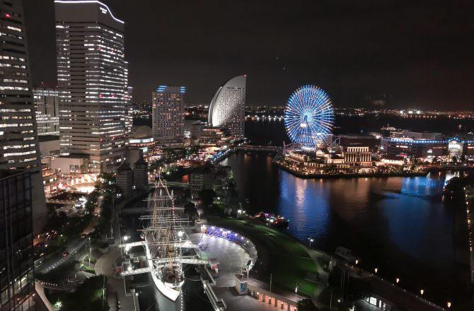 橫濱住宿推薦 新大谷INN New Otani Inn Yokohama Premium 在房間就能欣賞橫濱百萬夜景
