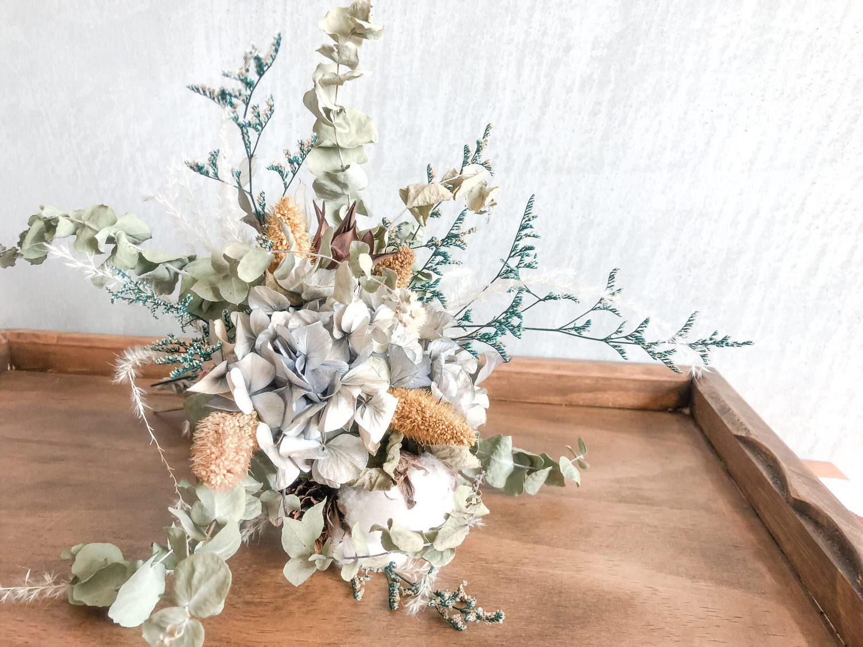 小小婚禮|森林系乾燥花捧花 自己DIY省錢又精緻