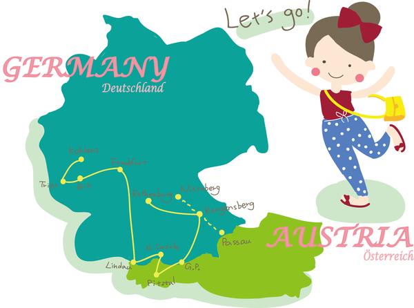 德國行程》德國與奧地利旅行記錄的開始 - 行程總覽