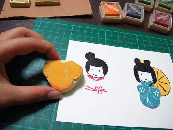 【手作橡皮章】日本娃娃
